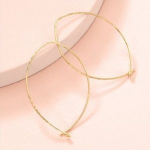 :: Stella & Dot [GOLD] Hammered Wire Large Hoops